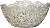 Bradburn Gallery Home Pierced Openwork Ceramic Bowl, Cream