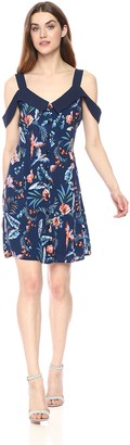 Adelyn Rae Women's Gianina Woven Printed Mini Dress
