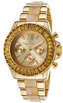 Invicta Angels Multi-Function Gold Dial Gold-plated and Horne Acetate Ladies Watch