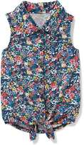 Old Navy Sleeveless Tie-Hem Jersey Shirt for Toddler Girls