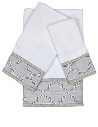 Austin Horn Classics En Vogue Stanton Gimp 3 Piece Decorative Embellished Towel Set