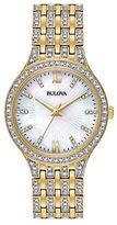 Bulova Ladies Crystal Slim Radial Pave Watch- 98L234