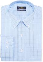 Club Room Men's Blue Glen Plaid Dress Shirt, Only at Macy's
