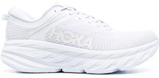 Hoka One One Logo-Print Lace-Up Sneakers
