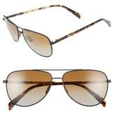 Salt Men's 'Rex' 60Mm Polarized Sunglasses - Black Sand/ Brown