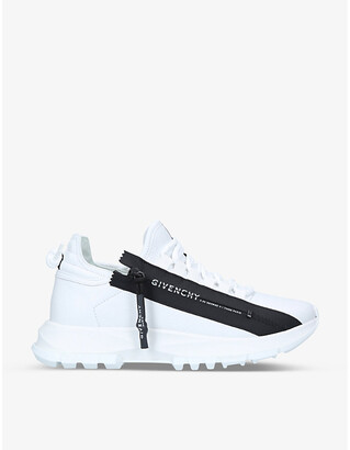 Givenchy Spectre zipped perforated leather trainers
