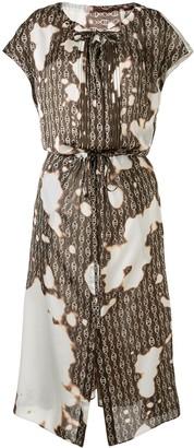 Maison Mihara Yasuhiro Tie-Dye Flared Midi Dress