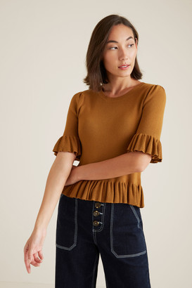 Seed Heritage Frill Knit Top