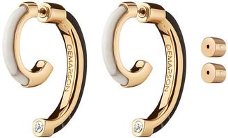 DEMARSON Bicolor Quartz Luna Earrings