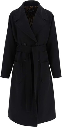 Dolce & Gabbana OVERSIZED WOOL COAT 40 Black Wool