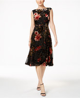 Betsey Johnson Floral Burnout Velvet Dress
