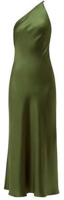 Galvan Roxy Charmeuse Maxi Dress - Womens - Mid Green