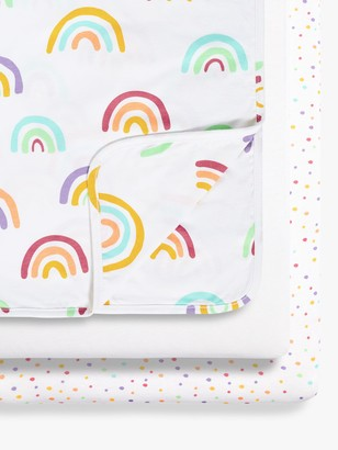 Snüz Snuz Rainbow Crib Fitted Sheet and Blanket 3 Piece Set