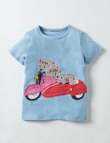 Boden Patchwork Appliqué T-shirt