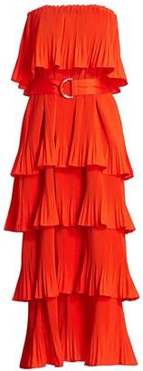 Essentiel Antwerp Valentina Tier Ruffle Maxi Dress