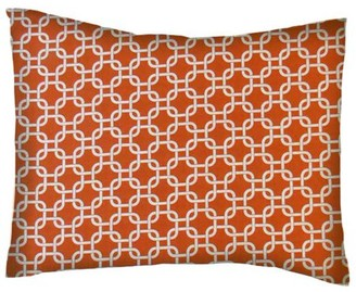 SheetWorld Twin Pillow Case - Percale Pillow Case - Orange Links