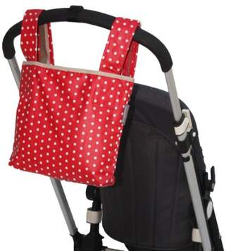 Buggy Organiser Bag with Pockets for Baby Pushchairs/Prams/Stroller and Large Scooters - Cherry