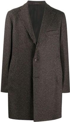 Tagliatore Woven-Pattern Single-Breasted Coat