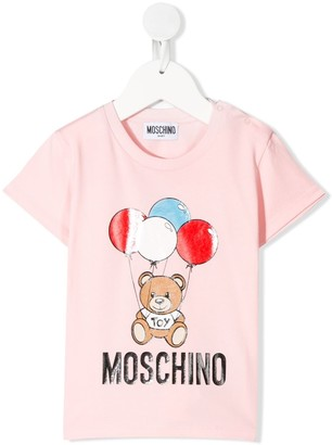 MOSCHINO BAMBINO balloon teddy bear print T-shirt