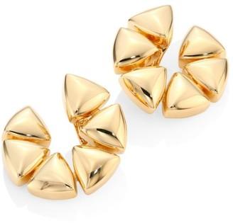 """Vhernier Freccia Medium 18K Rose Gold Clip-On Hoop Earrings/1"""""""