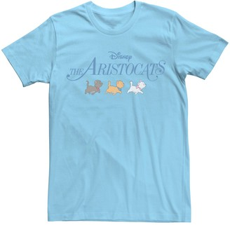 Disney Men's Aristocats Marie Toulouse Berlioz Cute Cats Tee