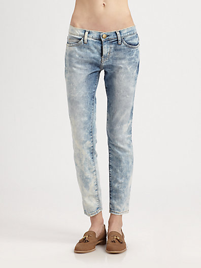 Current/Elliott The Stiletto Crazy-Wash Jeans