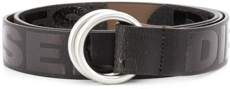 Diesel logo D-ring belt