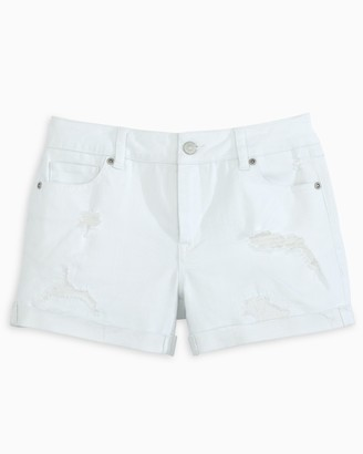 Southern Tide Hayes Distressed White Denim Short