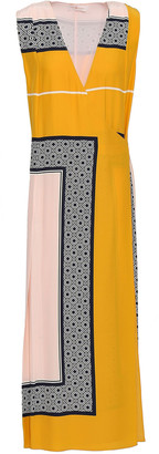 Tory Burch Printed Silk Midi Wrap Dress