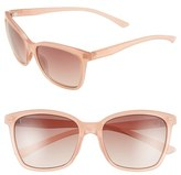 Smith Optics Women's 'Colette' 55Mm Polarized Sunglasses - Black/ Polar Grey Green