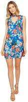 XOXO Printed Sleeveless Choker Dress