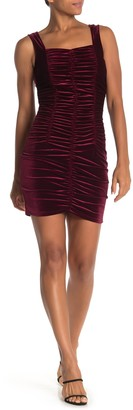 Free Press Velvet Ruched Mini Dress
