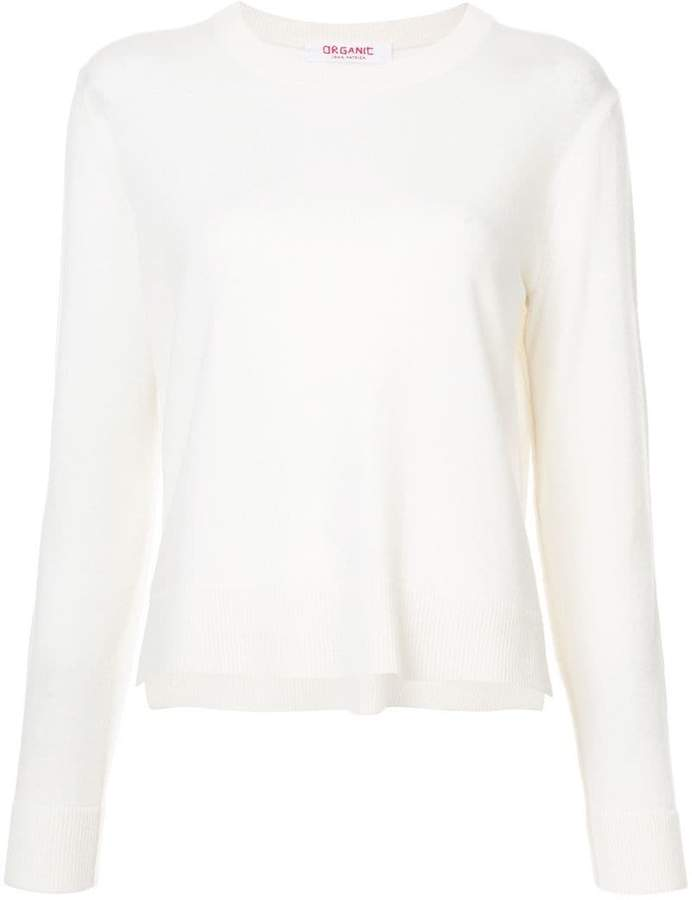 Organic by John Patrick cropped crew neck pullover