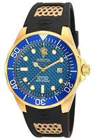 Invicta Men's 'Sea Base' Quartz Stainless Steel and Polyurethane Casual Watch, Color:Black (Model: 17970)