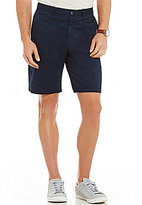Original Penguin P55 Stretch Straight-Fit Flat-Front Shorts