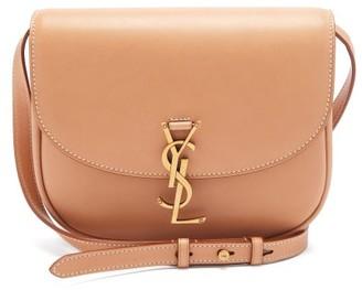 Saint Laurent Kaia plaque Leather Cross-body Bag - Tan