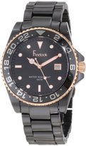 Freelook Women's HA5109RG-1 Black Ceramic Band Rose Gold Case And Index Watch