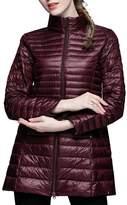 CHERRY CHICK Women's Light Weight Puffer Down Long Jacket