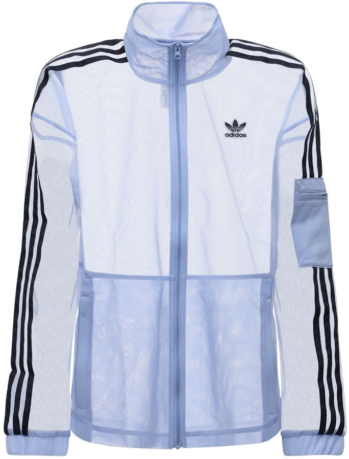 Thumbnail for your product : adidas Mesh Track Top