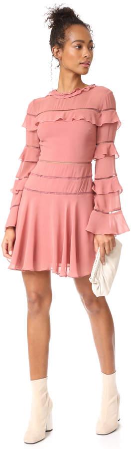 Nicholas Ruffle Insert Mini Dress