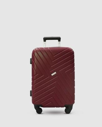 Jett Black Merlot Maze Carry On Suitcase