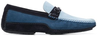 Moreschi Colour-Block Suede Driver Loafers