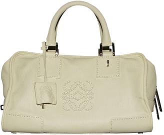 Loewe Green Leather Small Amazona Bag