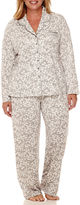 Earth Angels Long-Sleeve Knit Top and Pants Pajama Set - Plus