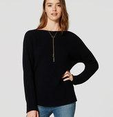 LOFT Ribbed Dolman Sweater
