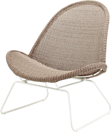 Houseology Gloster Bepal Lounge Chair - White/Nutmeg