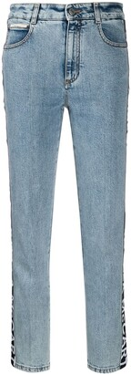 Stella McCartney High-Waist Logo Tape Jeans