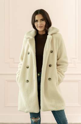 Rachel Parcell Faux Shearling Coat