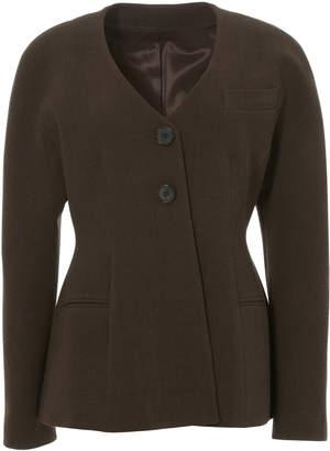 LVIR Collarless Wool-Blend Jacket