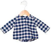 Petit Bateau Boys' Gingham Print Shirt